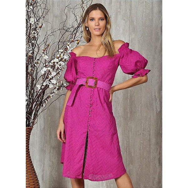 Vestido Midi Megan em laise Ave Rara Fashion