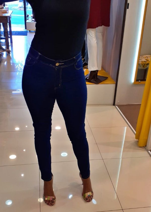 Calça Skinny Cintura Alta Jeans Clássico Blue Special Edition