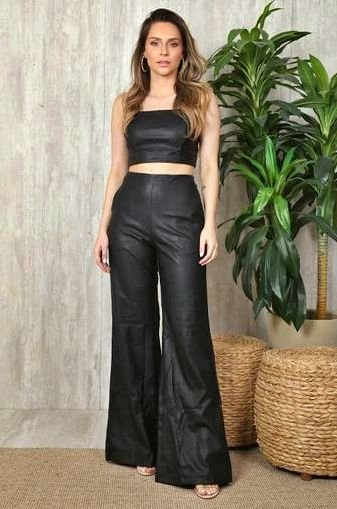 Conjunto Pantalona Leather Ave Rara