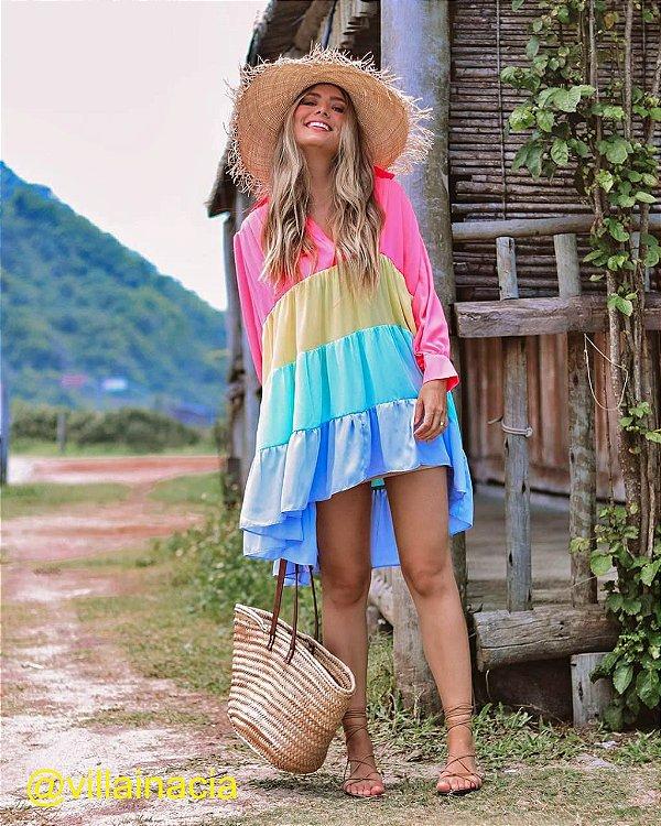 Vestido Curto Neon Color