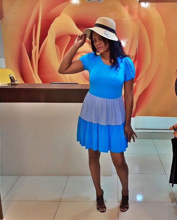 Vestido Curto Bicolor Maria