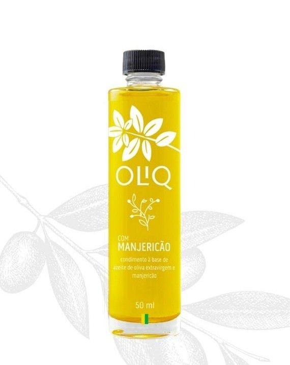 Azeite de oliva Extravirgem com Manjericão Oliq 50ml