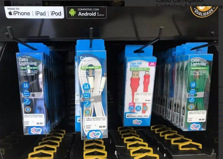Cabo Carregador Lightning Apple Original I2go iPhone 5/6/7/8