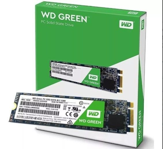 HD SSD M.2  Wd Grenn 480Gb  Wester Digital