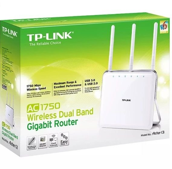 Roteador Wireless Dual Band Gigabit Archer C8 Ac1750