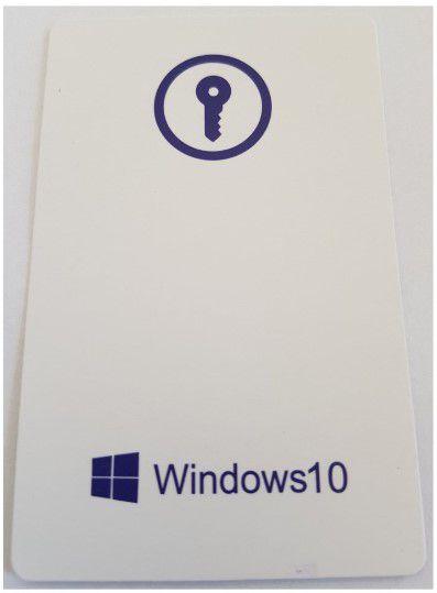 Microsoft Windows 10 PRO 32/64 Bits FPP - Cartão Chave