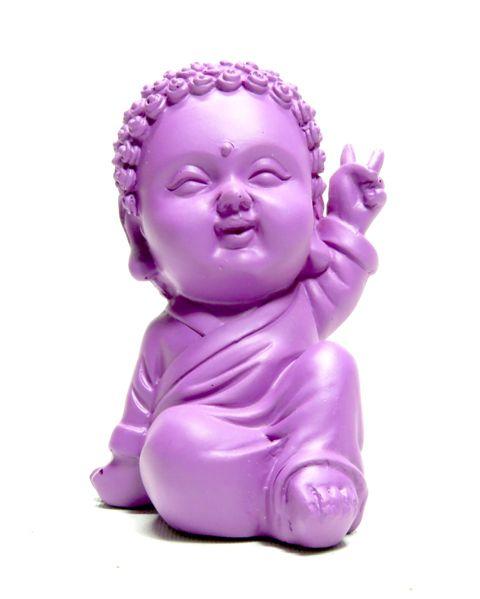 """Buda de Resina Colorido """"Baby Buda"""" - 4 Cores"""