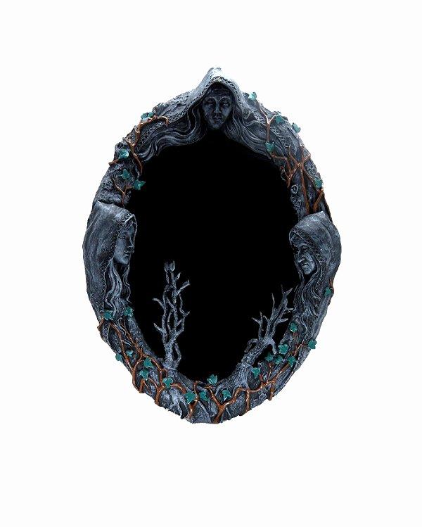 """Espelho Negro """"Dark Times"""" - 45cm"""