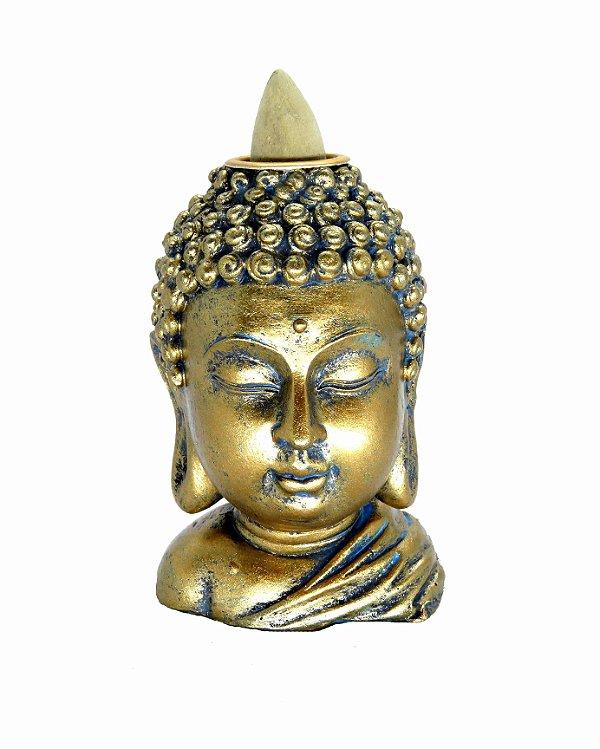 Incensário Cascata Busto Buda - 8CM