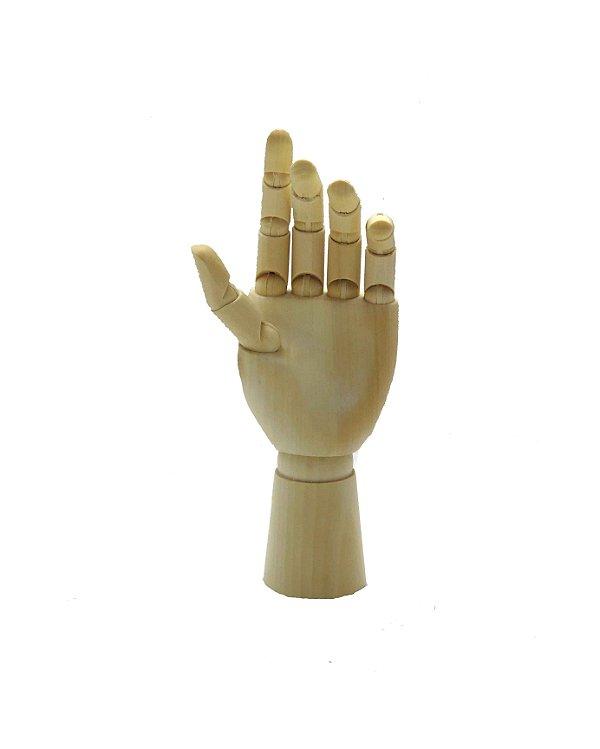 Mão de Madeira Articulada - 18cm