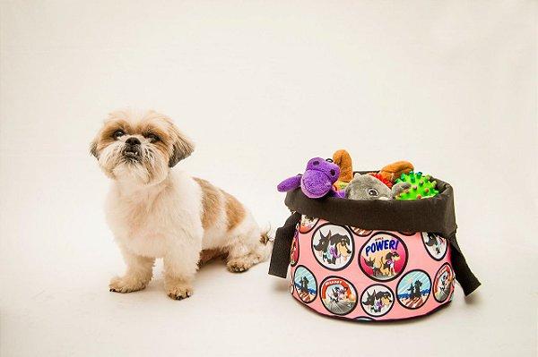 Cesto para Brinquedos - Estampa Vida de Cão