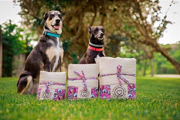 Tapete Higiênico Lavável - Estampa Vida de Cão - Tecido Bege