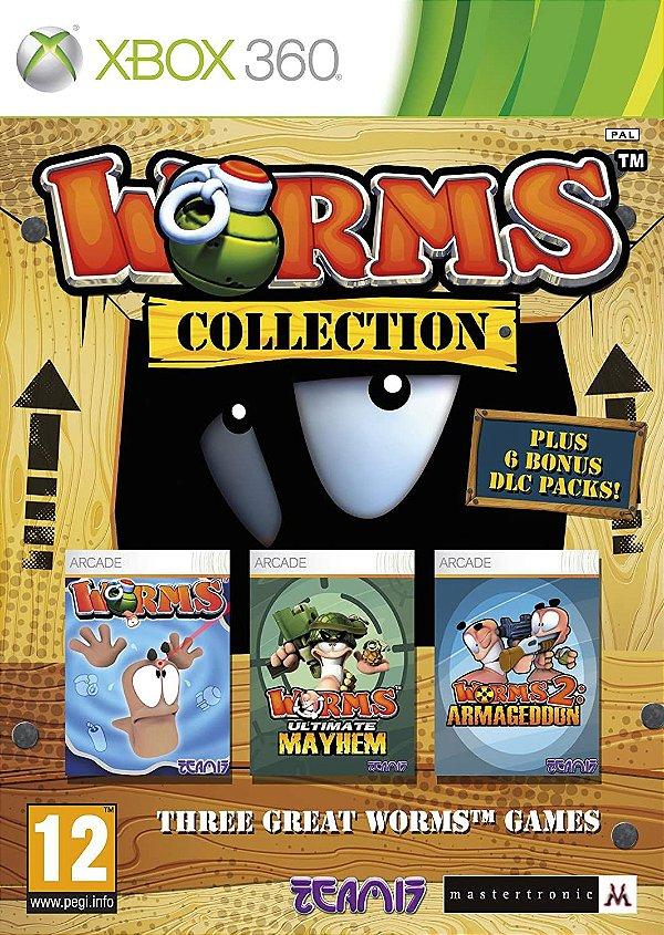 Worms Collection -MÍDIA DIGITAL XBOX 360