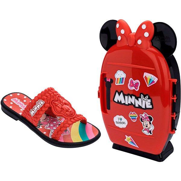 Kit chinelo menina Minnie + Mini Geladeira Grendene Kids