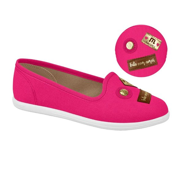 Sapatilha Infantil Molekinha Fashion Lona Pink (MM174)