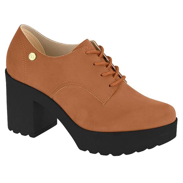 Sapato Feminino Moleca Oxford Tratorado Salto Alto (MM362)