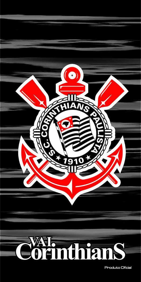 Toalha de praia Buettner veludo Algodão Corinthians Oficial