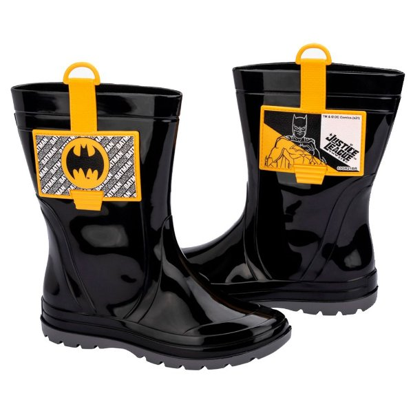 Bota Galocha Batman Grendene Kids Menino Preta Confortável
