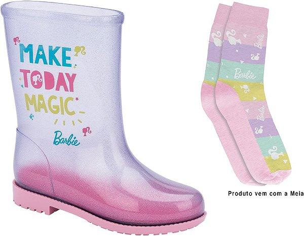 Bota Galocha Barbie Fun Day Grendene Kids Com Meia