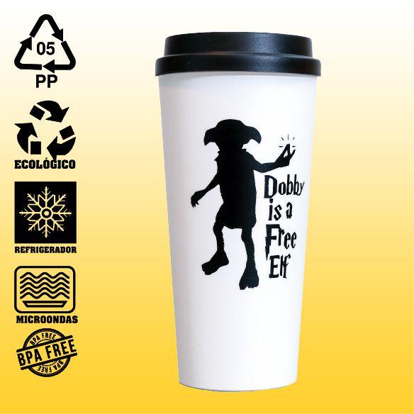 Copo Eco Bucks - Harry Potter - Doby is a Free Elf