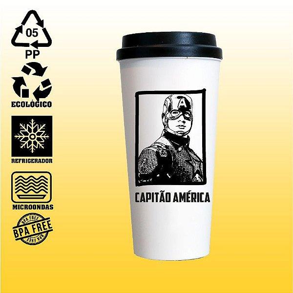 Copo Eco Bucks - Marvel - The Avengers - Capitão América - Avengers