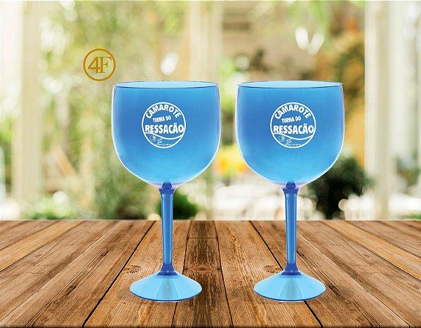 Taças de Gin 570ml  Azul Cristal Personalizado  (20 Unidades)