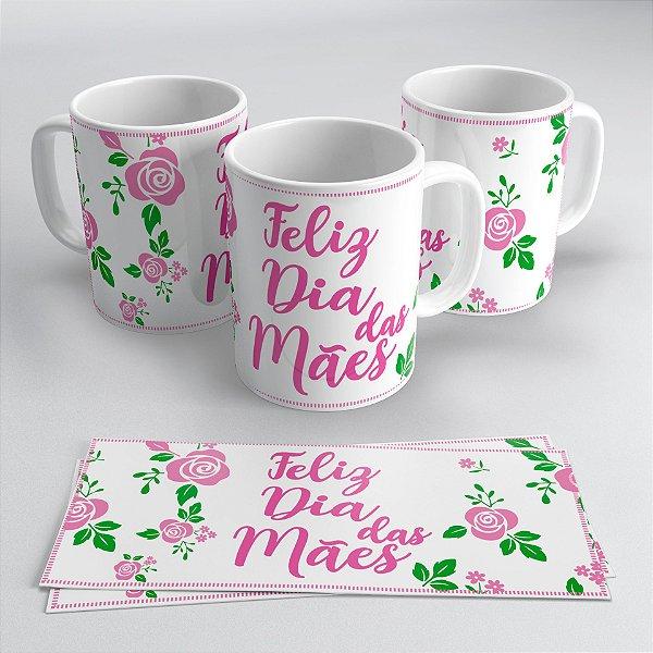 Caneca Porcelana 325ml Personalizado - Dia das Maes