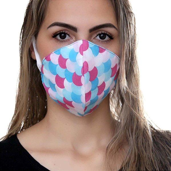 Máscara de Rosto - Tecido Duplo Lavável - Cores Sortidas (50 unidades)