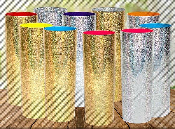 Copo Long Drink 350ml Metalizado com Gliter - Personalizado