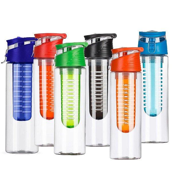 Squeeze Plástico 700ml com Infusor (Minimo 10 Unidades) - 13764B