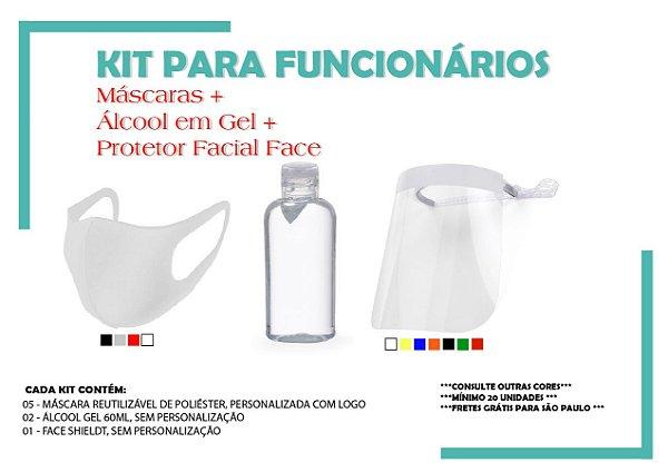 Kit de Prevenção com Máscaras e Álcool em Gel 60ml