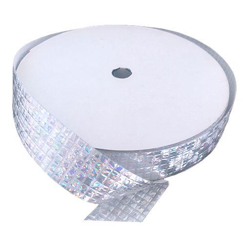 Fita holográfica quadriculada – 2cm x 50 metros