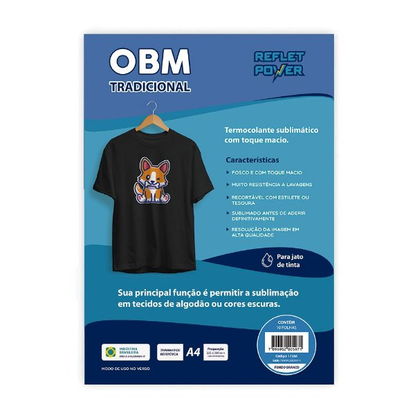 OBM Tradicional A4 c/ 10 folhas - Reflet Power