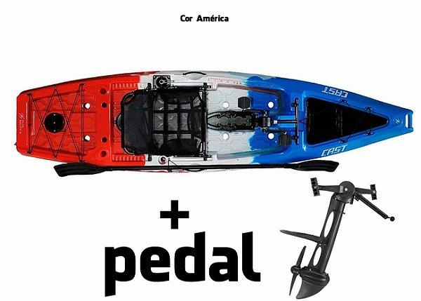 Caiaque Milha Náutica Cast Com Pedal Power Drive System