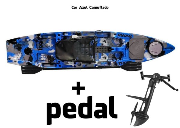 Caiaque Milha Náutica Thork com Pedal Power Drive System