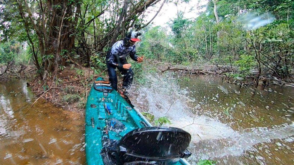 Caiaque Barracuda Pro Fish com Assento, cor verde sólido (Fábio Fregona)