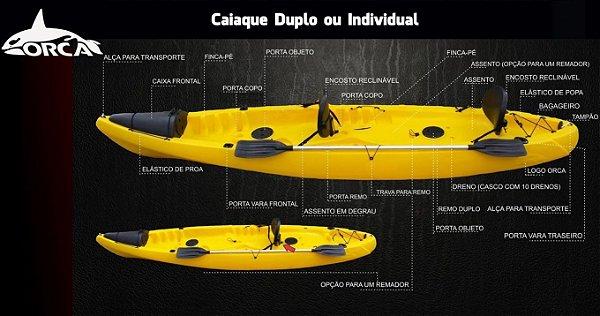 Caiaque Lontras Orca Completo (Duplo)