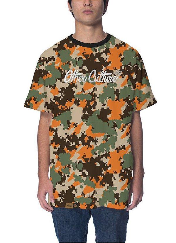Camiseta  Other Culture Camo Logo Orange