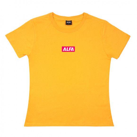 Camiseta Feminina Alfa Candy Better Amarela