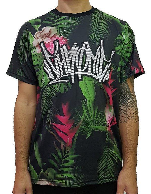 Camiseta Chronic Floral Logo Pixo