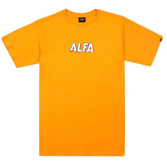 Camiseta Masculina Alfa Skate 3d Amarela