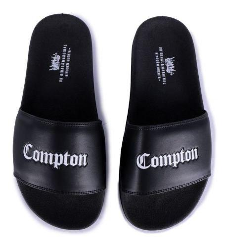 Chinelo Slide Chronic Compton Preto