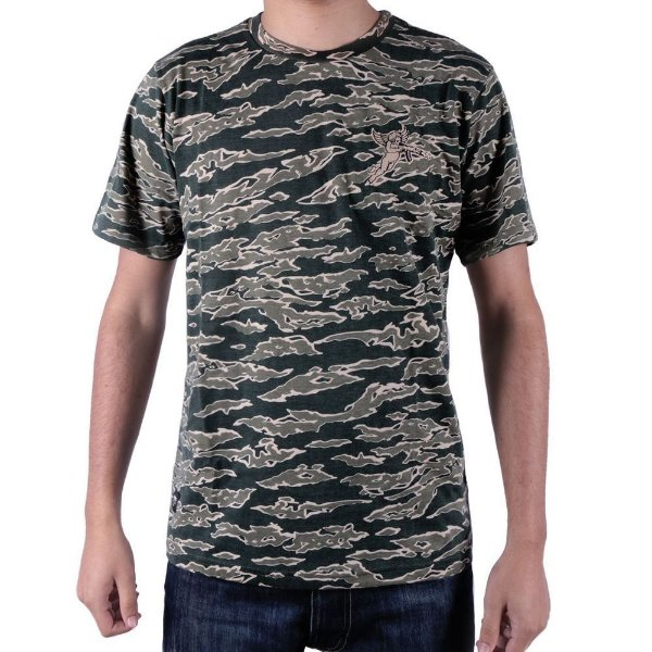 Camiseta Chronic Versatil Camuflada Cuerda Salvia