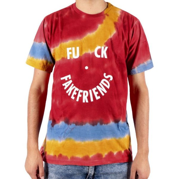 Camiseta Chronic Tie Dye Fuck Fake Friends