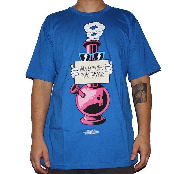 Camiseta Chronic Mais Flor Por Favor Azul