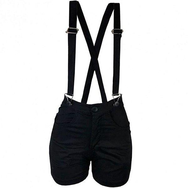 Shorts Feminino Riot Black Suspender