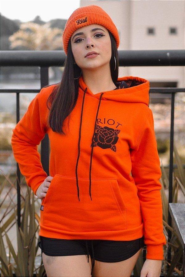 Moletom Riot Canguru Orange Vibes (laranja)