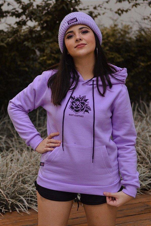 Moletom Feminino Riot Canguru Lilac Rose Lilás