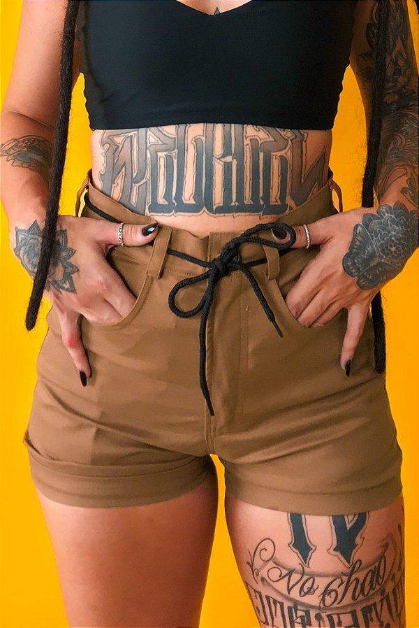 Shorts Sarja Riot Caramelo