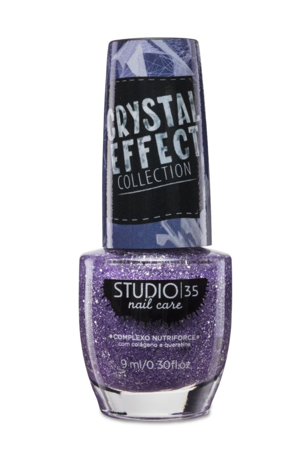 LANÇAMENTO - Esmalte Fortalecedor Studio 35 Cristal Effect 9 ml #FEITICOPARAOCRUSH